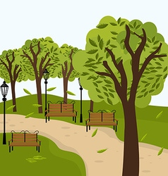 Urban park design vector