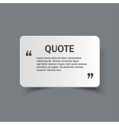 Quote form on paper banner vector