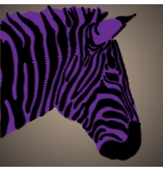 Creative portrait of zebra vector