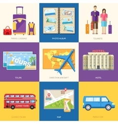 Travel guide infographic with vacation tour vector
