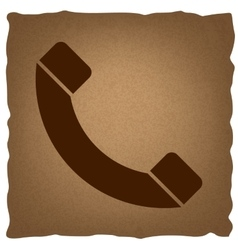 Phone sign vintage effect vector