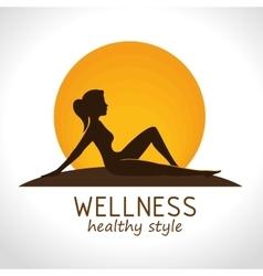 wellness healthy style design vector image