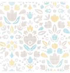 Abstract vintage ornamental tulips textile vector image vector image