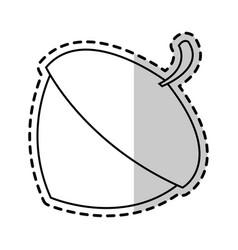 Acorn nut icon image vector