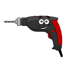 Cartoon power drill tool vector