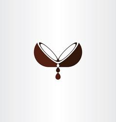 Coconut oil logo icon design vector