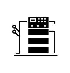 Copy machine icon black sign vector