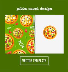 Cover design for print pizza menu vector
