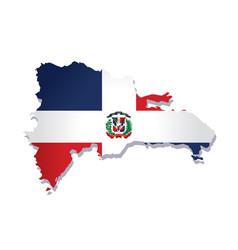dominican republic flag amp map vector image vector image