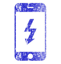 Electric smartphone textured icon vector