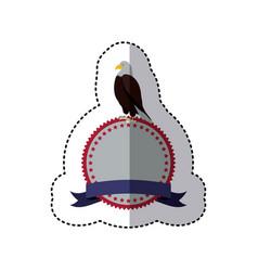 Emblem eagle sign icon vector
