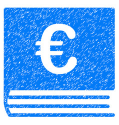 Euro bookkeeping grunge icon vector