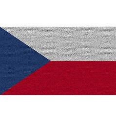Flags Czech Republic on denim texture vector image
