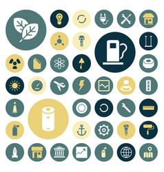flat design icons for industrial energy ecology vector image vector image