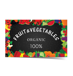 fruit and vegetable banner vector image vector image