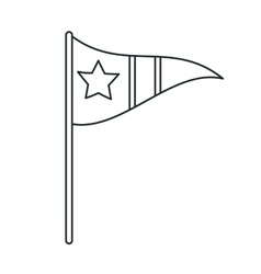 Isolated flag with star design vector image vector image