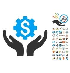 Maintenance price icon with 2017 year bonus vector