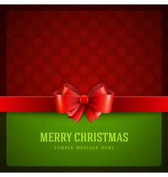 Merry christmas card ornament decoration vector