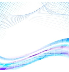 Modernistic wavy banner template vector image vector image
