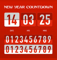 New Year countdown timer vector image