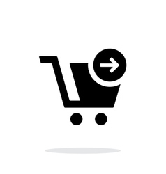 Shopping cart simple icon on white background vector image