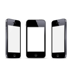 Three black smartphones vector image vector image