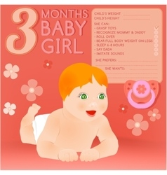 Three months baby vector image vector image