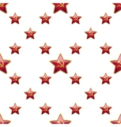 Universal badge Soviet Union stars seamless vector image vector image