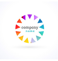 vibrant colorful logo concept vector image vector image