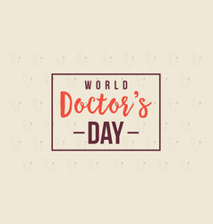 World doctor day card style collection vector