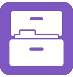 Files in drawer vector