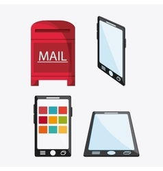 Smartphone mail message chat communication icon vector