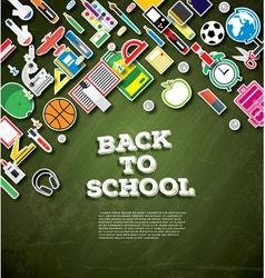 Back to school School supplies vector image