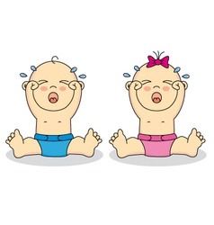 Babies crying vector