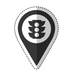 Pin pointer location icon vector