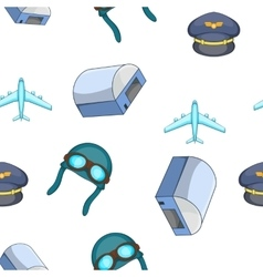 Air transport pattern cartoon style vector