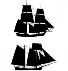 Ancient tall ships vector