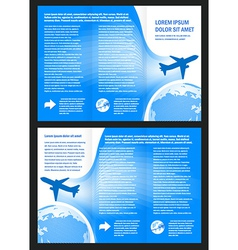 Brochure design airplane flight tickets air fly vector