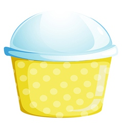 A cup with a lid vector
