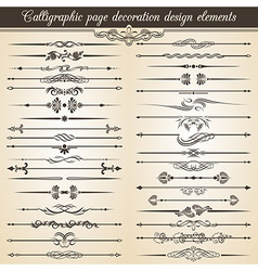Calligraphic vintage page decoration design vector