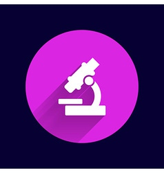 Black microscope icon - symbol vector