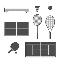 Equipment tennis vector