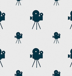 Video camera sign iconcontent button seamless vector