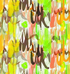 Rough brush green yellow and brown overlapping vector
