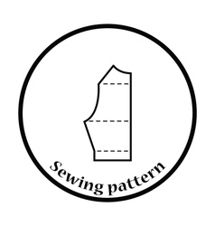 Sewing pattern icon vector