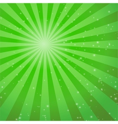 abstract green ray background vector image vector image