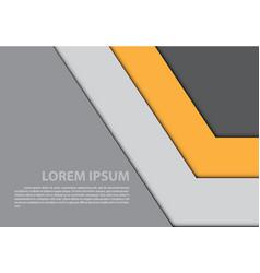 abstract yellow gray arrow design modern vector image vector image