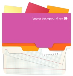 Background of an office stuff vector