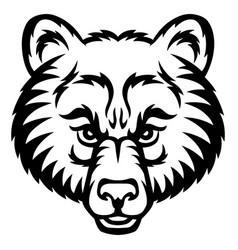 bear head logo vector image vector image
