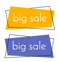 big sale yellow and blue banner vector image